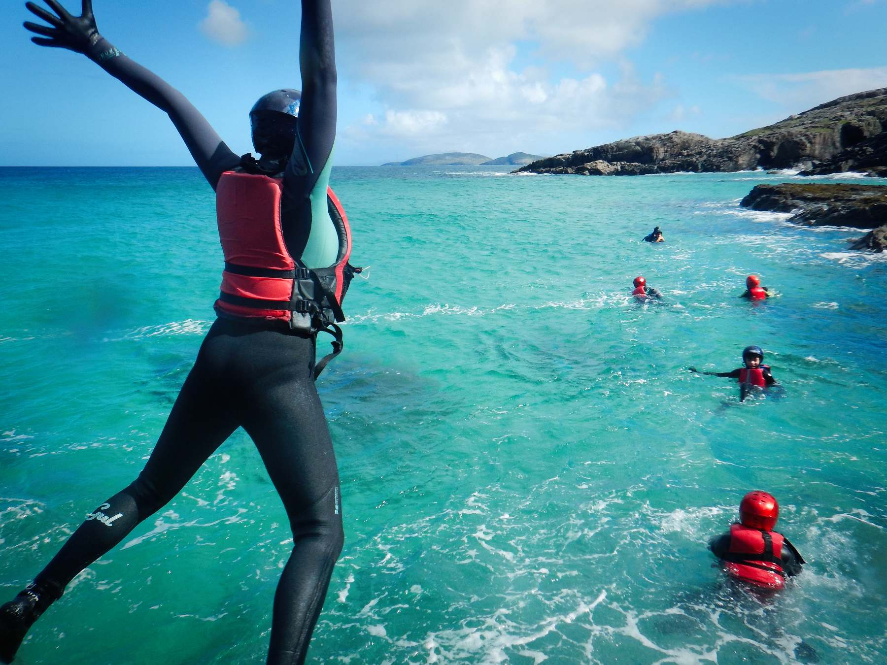 Barra Hebrides coasteering day adventures