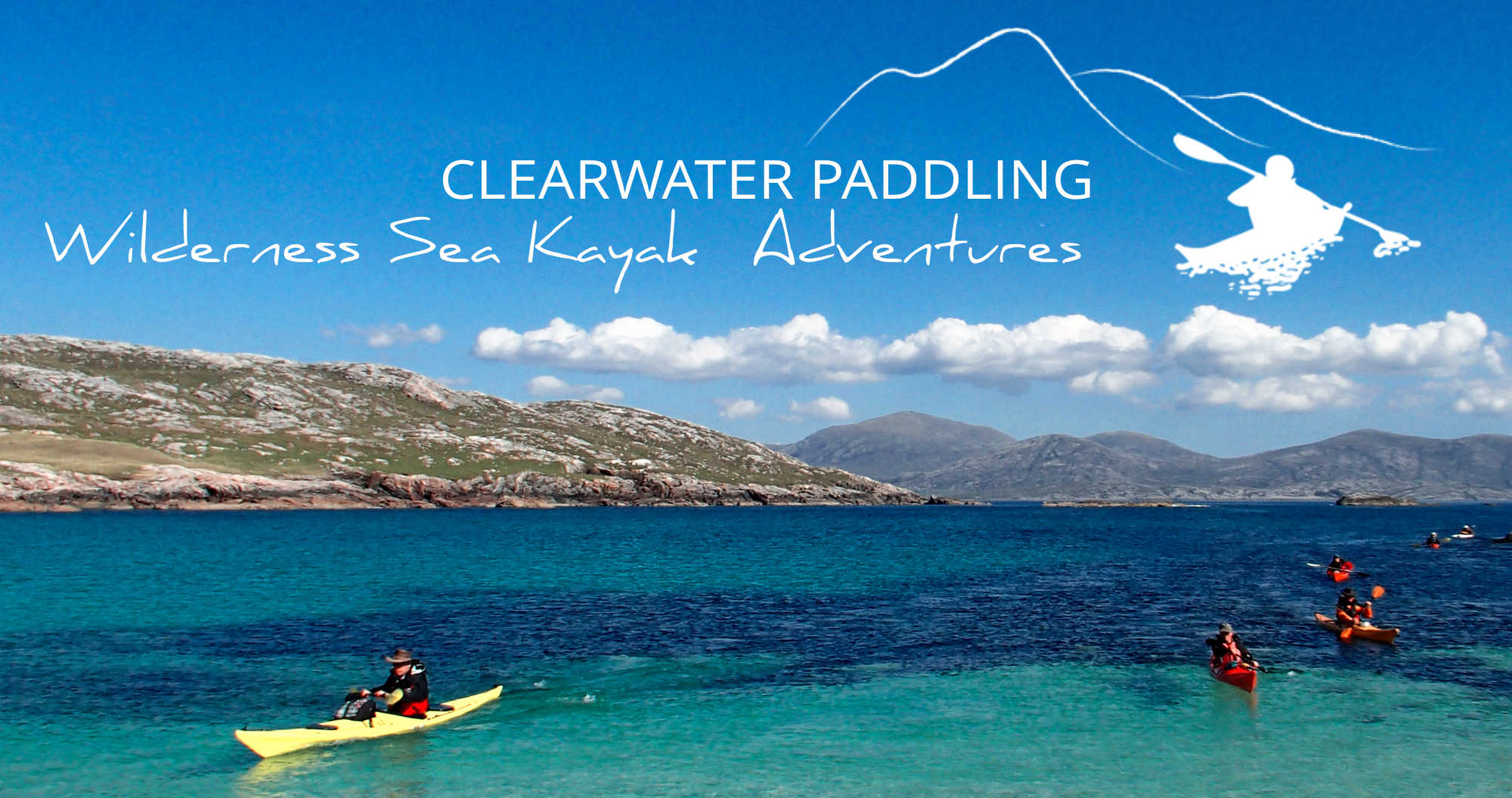 Clearwater Paddling Wilderness Sea Kayak Adventures banner
