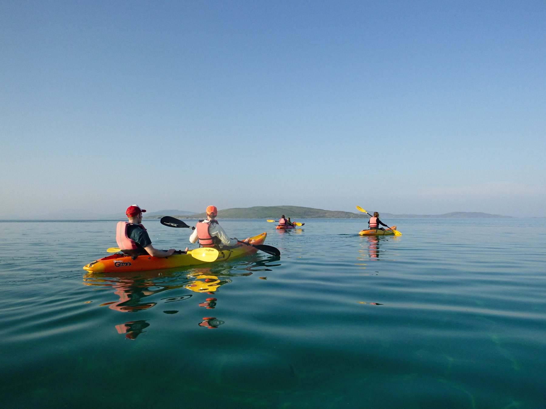 Sit-on-top kayak trips on the Isle of Barra